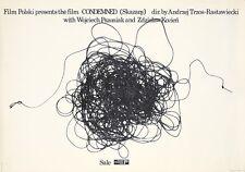 Original Vintage Póster Condenado Freudenreich Pulir Película 1976