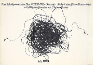 Original Vintage Poster Condemned Freudenreich Polish Film 1976
