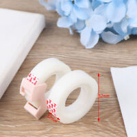2pcs adhesive tape with small tape cutting invisible tape portable stationery DD