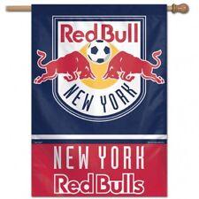 """New York Red Bulls MLS Vertical Flag Licensed Soccer 28"""" x 40"""""""
