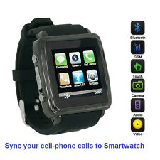 SmartWatch (Black Case) Sync calls to iPhones,Android Phones,Bluetooth Phones