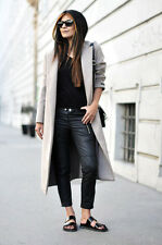 NEW ISABEL MARANT H&M BLACK COATED BIKER PANTS TROUSERS ZIP SIZE 36EU/6US RARE