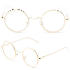 Retro Men Women Round Frame Vintage Eyeglasses Full Rim Glasses Spectacles