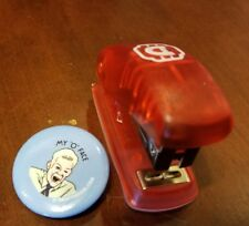 Alamo Drafthouse Exclusive Office Space Red Stapler and 1 Flair Buttons Oh Face