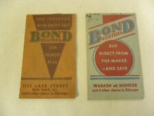 "Lot of ""2"" Vtg Bond Cloths Advertising Promotional Memo Note Pad Notebook (A4)"