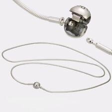 Authentic Pandora Essence Silver Necklace w/ Pandora Lock 70cm 596004-70