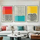 Wall Art Modern Colorful Red Blue Yellow Abstract Line Geometric Canvas Painting