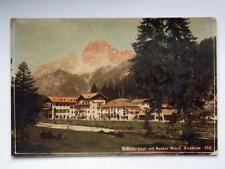 Ampezzo monti rossi Rother Wand Cortina Dolomiti veccha foto cartonata old photo