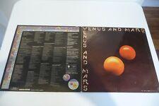 WINGS LP VENUS AND MARS RARE LP PROMO ARGENTINA PRESS .PAUL McCARTNEY.