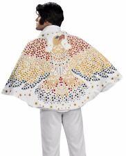 Deluxe Elvis Cape Adult White Eagle Costume Accessory Rhinestone King of Rock