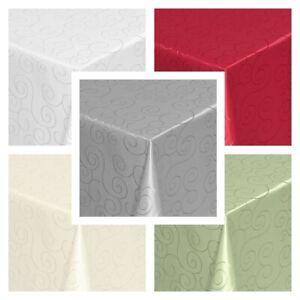 Tischdecke Ornamente Ranken Moderno, Eckig Oval Rund, Größe und Farbe wählbar
