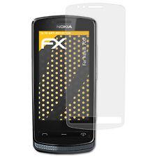 atFoliX 3x Lámina Protectora de Pantalla para Nokia 700 mate y antigolpes