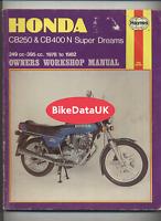 Honda CB250N CB400N Superdream's (1978-1982) Haynes Manual Book CB 250 400 DF11