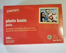 Staples Photo Basic Gloss Paper 4x6 Pack of 200 Item 666176