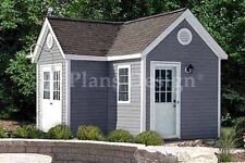 Dual Garden Structure Storage Shed Plans, Material List Included #60712