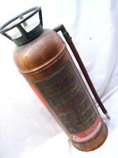 Antique Copper/Brass Foam Fire Extinguisher SodAcid Water Filled Fyr-Fyter