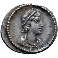 SCARCE ROMAN COIN SILVER THIRD SILIQUA ANONYMOUS-TIME OF CONSTANTINE