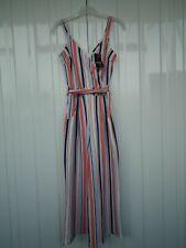 QUIZ Crossover Front Stripe Jumpsuit Size 8