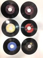 """45 RPM 7"""" Records (lot Of 6) See Photos For Titles & Condition. See Description"""