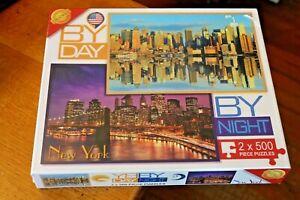 Brand New & Sealed Cheatwell 2 x 500 Piece Jigsaw Puzzle New York Day & Night
