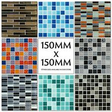 Mosaic Tile Stickers Decals Kitchen Transfers Glass Look 150mm or 100mm M36