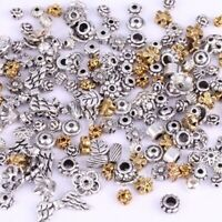 Mixed Spacer Tibet Silver Beads For Jewelry Making DIY Bracelet 50g(About 90pcs)