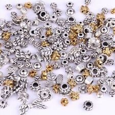 50g (About 90pcs) Mixed Tibet Silver Beads Flower Caps Spacer For Jewelry DIY