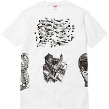 DS New Supreme Escher Black White Tee T-shirt SS17 rare box logo Bogo M Medium