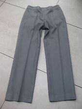 LADIES womens JAEGER silk wool trousers size UK12 black white stripe retro