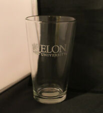 Elon University -16 oz. Etched Mixing Glass Campus Crystal