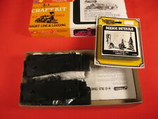 ROUNDHOUSE 1502 HO SCALE OLD TIMER SHORTY FLAT CAR (3) KIT plus W.S Steam Engine