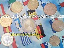 2008 PORTOGALLO 8 monete 3,88 euro FDC portugal Португалия Portugalia 葡萄牙 ポルトガル