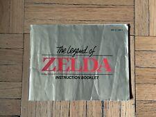 NES Legend of Zelda Instruction Booklet Vintage Nintendo Entertainment System