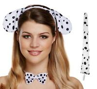 Dalmation Dalmatian Ears Tail & Bow Tie Set Fancy Dress Costume 3pcs/Set - CB