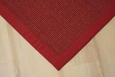 Sisal Teppich Manaus mit Bordüre rot 200x250 cm 100% Sisal