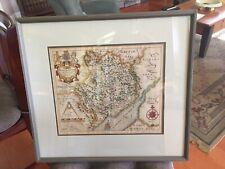 Monumethensis Comitatus Map Of Monmouthshire Saxton Hole 1637