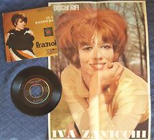 IVA ZANICCHI FRA NOI / GOLD SNAKE 45 GIRI CON POSTER del 1966 Rifi No Mina Pravo