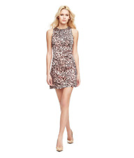 New Guess pink leopard dress Size M RRP £95