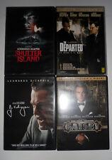Lotto Stock 4 DVD LEONARDO DI CAPRIO Shutter Island Gatsby The Departed J. Edgar