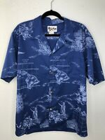 Howie Blue Hawaiian Men's shirt ~ Size XL Made In Hawaii