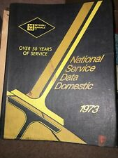 1973 National Automotive Mitchell Manual National Service Data for Domestic Cars