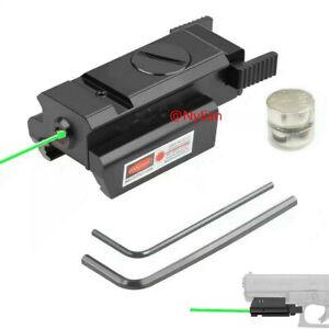 For 20mm Picatinny Rail Rifle Pistol Gun Low Profile Power Green Dot Laser Sight