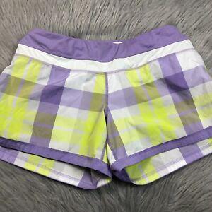 Lululemon Womens Groovy Run Short Foxy Purple Plaid Size 8