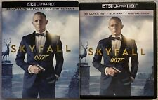 JAMES BOND 007 SKYFALL 4K ULTRA HD BLU RAY 2 DISC + SLIPCOVER SLEEVE FREE SHIPIN