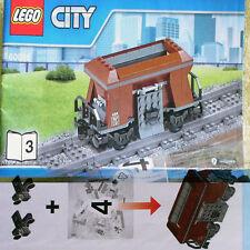Lego Heavy-Haul Train 60098 Brown 4-wheel hopper Coal Wagon Freight Car NEW B3