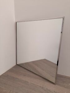 ~~~GREAT DEAL~~~ 👌 Stainless Steel Mirror 60cm x 60cm Wall Hung Mirror - FAULT