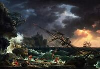 The Shipwreck Painting by Claude-Joseph Vernet Art Reproduction