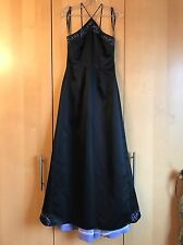 Morgan & Co Black and lilac evening/ Cocktail Maxi dress small train size 10