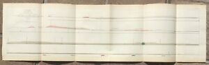 1853 USPRR Survey Map - Geological Section Map - Great Basin to San Pedro, CA