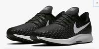 NEW!! Nike Men's Black/White-Gunsmoke-Oil Grey Air Zoom Pegasus 35 Running Shoes